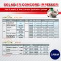 SOLAS SR CONCORD IMPELLER New A version & Non-A Version Application Updates